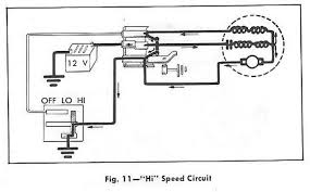 hi speed windshield wiper circuit diagram for the 1961 chevrolet