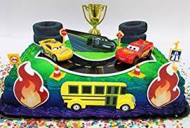 lightning mcqueen birthday cake cars 3 birthday cake topper set featuring lightning