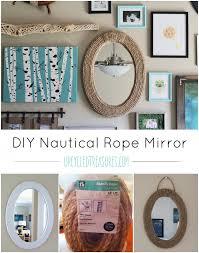 diy nautical home decor diy nautical rope mirror upcycled treasures