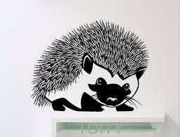 stickers animaux chambre b hérisson wall sticker animaux vinyle sticker home enfants fille