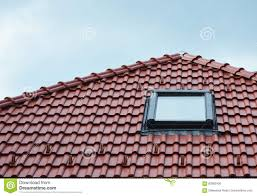 Skylight Design Attic Skylight Window On Red Ceramic Tiles House Roof Outdoor
