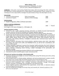 Medical Writer Resume Career Services At The University Of Pennsylvania