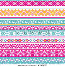 set knitted patterns stock vector 630743192