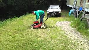 Steep Sloped Backyard Ideas by Finally An Inexpensive Hill Slope Steep Lawn Mower Youtube
