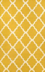 meknes trellis 100 wool hand hooked area rug in gold design by