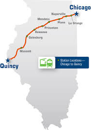 Chicago Illinois Map by Illinois Passenger Rail Amtrak Illinois U2013 Chicago To Quincy U2013 Map