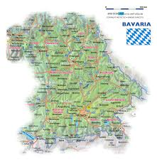 Wurzburg Germany Map by Map Of Bavaria Germany Map In The Atlas Of The World World Atlas