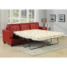 Sofa Bed Sleeper by Black Red Leather Sofa Bed Sleeper Sofa At Overstock Com