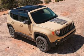 smallest jeep 2017 jeep renegade gains deserthawk and altitude special editions