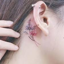 the 25 best behind ear tattoos ideas on pinterest moon tatto