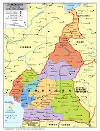 map of cameroon political map of cameroon with provincial state boundaries by