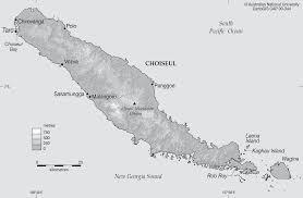 Solomon Islands Map Choiseul Island Cartogis Services Maps Online Anu