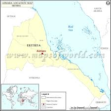 africa map eritrea where is asmara location of asmara in eritrea map