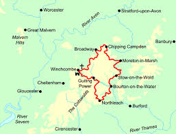 map uk villages cotswold villages trail contours walking holidays