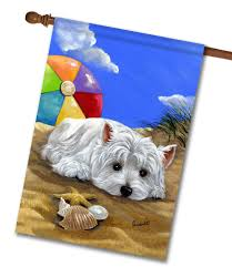 Monogram House Flags West Highland Terrier Beach House Flag 28 U0027 U0027 X 40 U0027 U0027 Custom