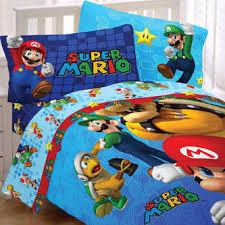 Mario Bros Bed Set Nintendo Mario Bedding Set Fresh Look Comforter Sheets