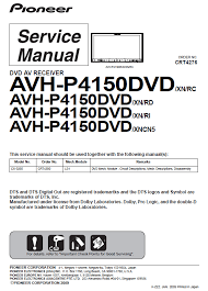 pioneer avh p4100dvd wiring diagram diagrams free wiring diagrams