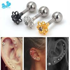 what is surgical steel earrings 1pc 1 2 6mm 316l surgical steel ear piercing cartilage helix