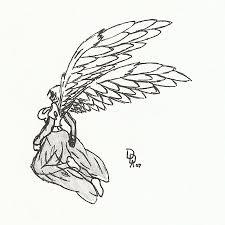 ayla the angel flying by halekyn steel on deviantart
