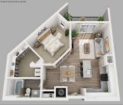 image result for 3d 1 bedroom floor plans for an apartment