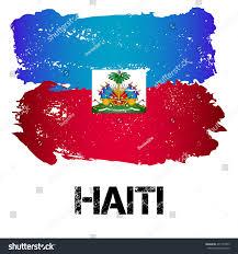 flag haiti brush strokes grunge style stock vector 497167993