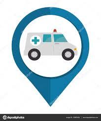 Map Icon Ambulance Vehicule Pin Map Icon U2014 Stock Vector Yupiramos 130852434