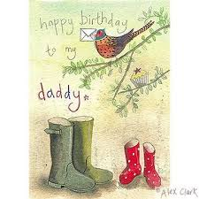 daddy pheasant and wellington boots birthday card karenza paperie