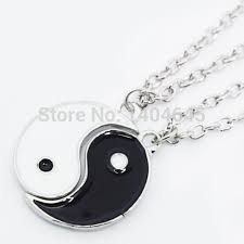 Aliexpress Yang | silver yin yang pendant best friend gift pair necklace charms in