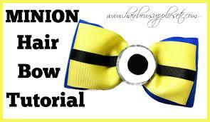 minion ribbon minion hair bow tutorial hairbow supplies etc