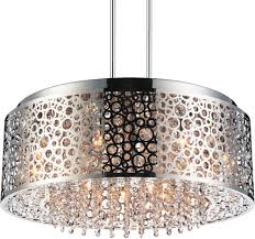 Drum Shade Chandelier Lighting 9 Light Chrome Drum Shade Chandelier From Our Bubbles Collection