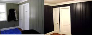 painted wood walls impressive painting wood paneling home designing
