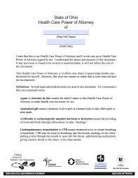 Free Printable Durable Power Of Attorney ohio minor child power of attorney form power of attorney