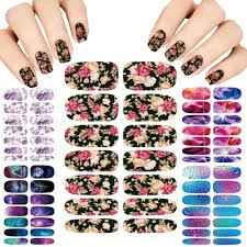 art lot flower mystery galaxies design stickers for nails manicure