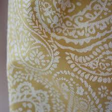 Paisley Curtains Mustard Yellow Jacquard Paisley Curtains