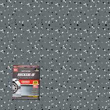 rust oleum rocksolid 76 oz dark gray polycuramine 1 car garage