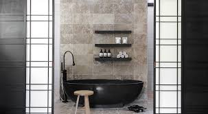 bathrooms vintage bathroom with black clawfoot bathtub and