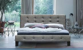 luxe fabric scandinavian bed groupon goods