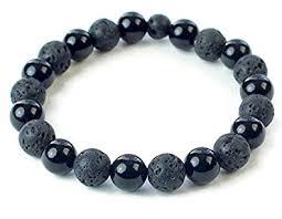 bracelet beaded images Lava bead bracelet black onyx bracelet beaded jpg