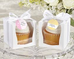 kate aspen favors personalized white cupcake boxes baby favors by kate aspen