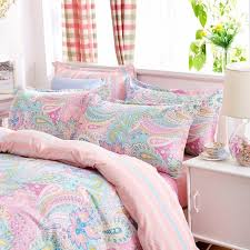 soft bed sheets bohemian bedding set polyester cotton soft bed linen duvet cover