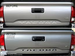 toyota tacoma tailgate 2016 toyota tacoma decal tailgate letter inserts fill in stick