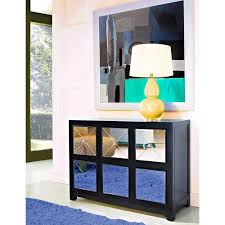 mirrored 6 drawer console table black walmart com