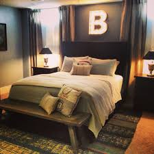 decor area rug and bench with bedding also nightstand for small