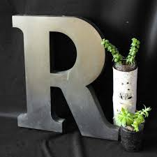 letter home decor rustic metal letters home decor new lighting distinctive