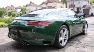 green porsche porsche 911 new car detail in paint to sample irish green youtube