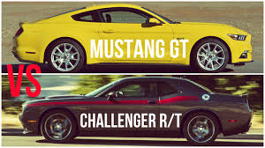 dodge challenger vs ford mustang 2015 ford mustang gt vs dodge challenger rt comparison