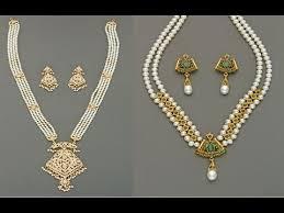 pearl haram locket designs from mangatrai jewellers