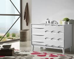 48 Inch Solid Wood Bathroom Vanity by White Finish Bathroom Vanities