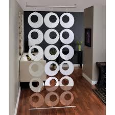 decorating unique tension rod room divider with elegant white