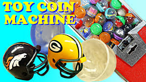 nfl mini football helmets toy coin machine guessing game with